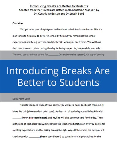 Introducing Breaks are Better to Students