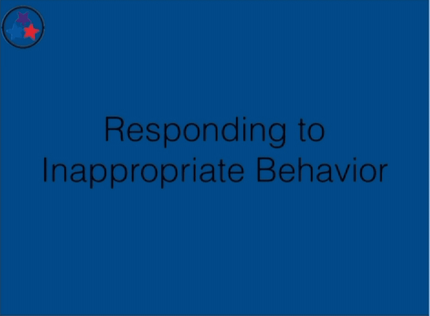 Classroom Management 9 - Responding to Inappropriate Behavior